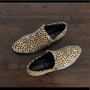 Sole Society Birch Cheetah Dot Ankle Boots